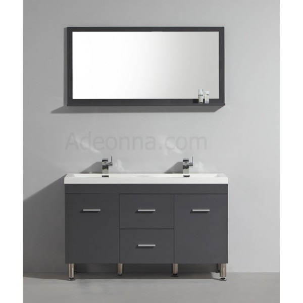 meuble double vasque 1200 mm finition gris laqu prix direct fabricant. Black Bedroom Furniture Sets. Home Design Ideas